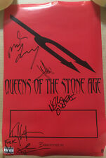 QUEENS OF THE STONE AGE AUTOGRAPHED Signed DOUBLE SIDED PROMO POSTER of 2002 CD