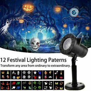 Indoor&Outdoor LED Halloween Christmas Lights Festival Party Laser Decor UK