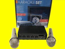 Mischpult/Verstärker Karaoke /2 Mikrofone/DVD(12 Volt)auch für Karneval-Umzug
