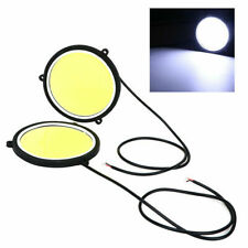 2X 67mm 120 COB LED White Car Auto Round DRL Daytime Running Light Driving Fog