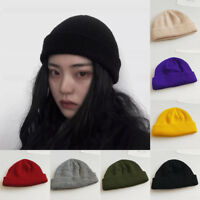 Men Women Unisex Knit Beanie Skull Hat Winter Warm Turn Ski Fisherman Docker Cap