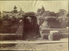 Eretria, Ancient Greek Theatre Vintage Albumen photo, c. 1890s