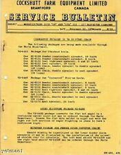 Cockshutt Service Bulletin-Modifications to 137 Combine