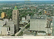 postcard   USA  Michagan General Motors and Fisher buildings detroit  posted