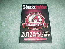 2011 NLDS Arizona Diamondbacks Baseball Ballpark Program v Milwaukee Brewers
