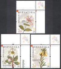 Croatia 2008 Rose/Honeysuckle/Flowers/Plants/Nature 3v set (n40412)
