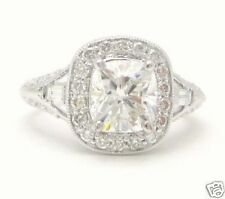 2.25CT CUSHION CUT DIAMOND ENGAGEMENT RING ANTIQUE