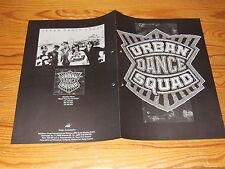 URBAN DANCE SQUAD - MENTAL FLOSS FOR THE GLOBE  ARIOLA-PROMO-HEFT 1989 (DIN-A-4)