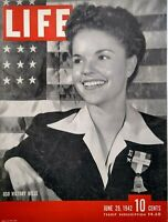 Life Magazine June 29 1942 WW2 Aircraft Carriers Victoria Texas Burma Aleutians