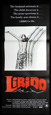 LIBIDO Original Daybill Movie poster DAVID WILLIAMSON Fred Schepisi Tim Burstall