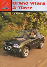 Prospekt 2003 Suzuki Grand Vitara 3 Türer Zubehör 2 03 brochure Auto Pkw Japan