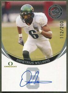 2006 Press Pass Autographs SILVER Demetrius Williams Oregon Ducks (112/200) AUTO