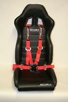 Seat Belt 4 Point Racing Harness Quick Release Track Race Drift 4x4 Red