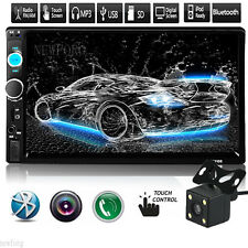 "Double Din 7"" Stereo Car MP3 MP5 Player Bluetooth Radio iPod SD/USB Touch Camera"
