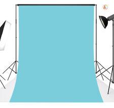 vinyl photography Plain Blue  Background Backdrop studio photo props  5X7FT 06