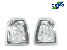 DEPO Pair of Euro Chrome Clear Front Corner Lights For 2001-2006 Ford Ranger