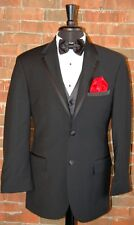 MENS 38 S CALVIN KLEIN ASTON 2 BUTTON NOTCH SUPER 100'S WOOL TUXEDO JACKET