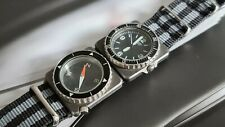 Vintage Seiko Contra Field Master Military army compass Watch rare works great