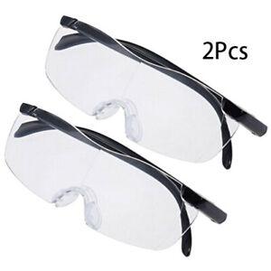 2pcs Pro Big Vision Magnifying Presbyopic Glasses Unisex Reading Eyewear New