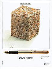 Publicité Advertising 097  1979   stylo plume Parker  signé César