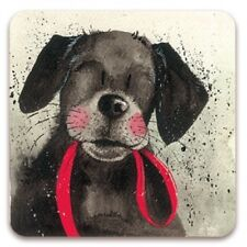 Red Lead Cork Backed Coaster, Alex Clark, Dogs, Pets, Tea, Coffee, Gifts C16