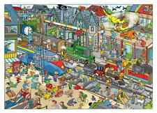 GOLIATH JIGSAW PUZZLE THAT'S LIFE: TRAIN STATION 1000 PCS CARTOON #71336