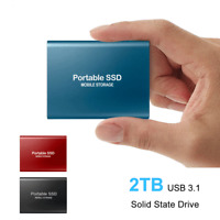 "USB 3.1 External SSD Solid State Drives 2TB 2.5"" Portable Mobile t/Hard Drive"