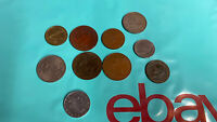 JOB LOT OF OLD VINTAGE COINS ASSORTED AS PICS X 10 LOT 1