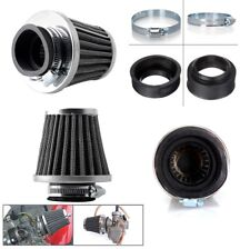 Four pcs Black Metal Motorcycle 50mm Air filter With Rubber connector for Engine