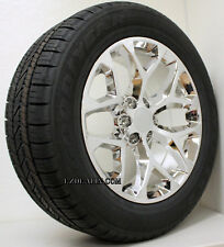 "Chevy Silverado Suburban Tahoe 20"" Snowflake Chrome Wheels Rims Tires Set of 4"