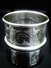 Anello di tovagliolo in argento, Birmingham 1995, Laurence R WATSON & Co, taglio brillante