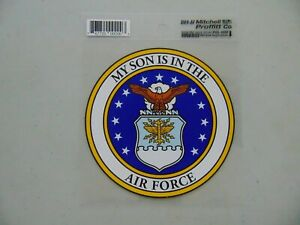 WINDOW DECAL STICKER APPROX 4 INCH MY SON IS IN THE AIR FORCE