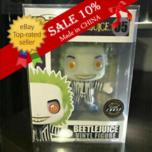 """Funko Pop!Beetlejuice #05 Rare Glow in The Dark """"Chase Sticker"""" - With Protector"""