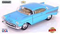 "Kinsmart 1957 Chevy Bel Air Coupe Blue 5"" Diecast Model 1:40"
