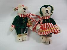 World Of Miniature Bears Dollhouse Miniature Bear #713 SET Chris & Carol