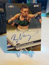2017 Topps Chrome UFC Rose Namajunas Auto Autograph Gold Refractor /50