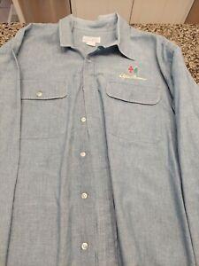 Vintage Alfa Romeo Blue Denim sty Long Sleeve  Lederman Rup Company Shirt *RARE*