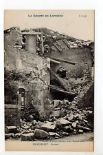 BEAUMONT Meurthe et moselle CPA 54 la guerre en lorraine ruines