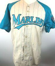 New listing Vtg 90's Mirage Florida Marlins Baseball Jersey Usmc American Flag Patches Rare