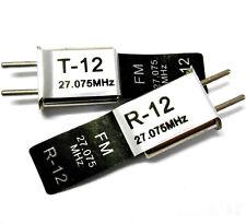 RC Remote Control 27 MHz 27.075 FM Crystal RX & Tx. Hsp.