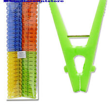 48 Pcs Plastic Laundry Clothes Pins 4 Colors Hanging Drying Long Pegs Clips New