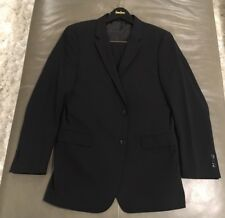 Theory Mens XYLO JS Marlo Godsford Black Stretch Wool Suit 42L 36x32 $895