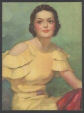 """Girl in Yellow by Walt Otto 1920s Glamour Girl art deco print 8"""" x 10"""""""