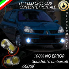 COPPIA LUCI FENDINEBBIA H11 LED CREE COB CANBUS RENAULT CLIO III 6000K