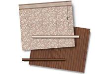 1:48 Scale Dollhouse Wallpaper - 1940 Vintage Silver Leaves / Wood Floor
