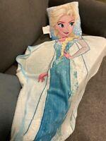 Disney Frozen Fleece Blanket Throw NEW Elsa & Pillow NEW nice super soft