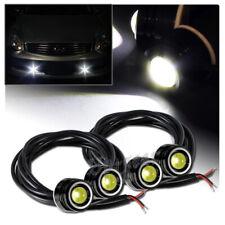 4 x 25mm 6w 12v White LED Eagle Eye DRL Daytime Running Lights Lamps Universal 4