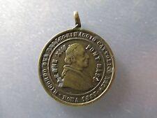 MEDALLA RELIGIOSA PAPA LEON XIII - PEREGRINAJE ROMA 1883 / MARIA INMACULADA