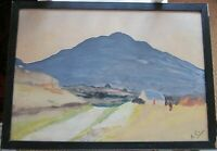 Antique Old Original  Watercolour Painting  Ireland Connemara?, signed