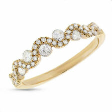 1/4 Ct Round Natural Diamond Wedding Band Ring Solid 14k Yellow Gold